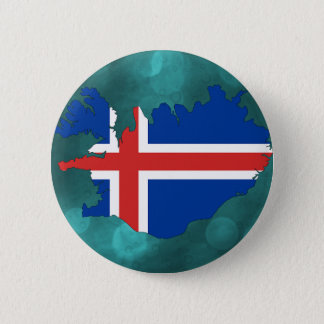 Iceland country flag pinback button