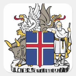 iceland emblem square stickers