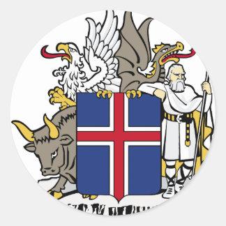 iceland emblem round sticker
