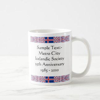 Iceland eText ~ Flagcolor Map Mug