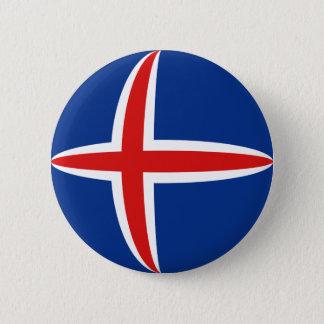 Iceland Fisheye Flag Button