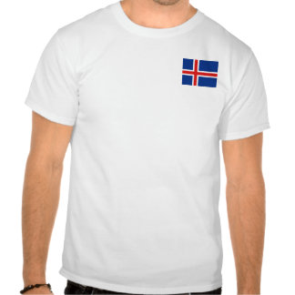 Iceland Flag and Map T-Shirt