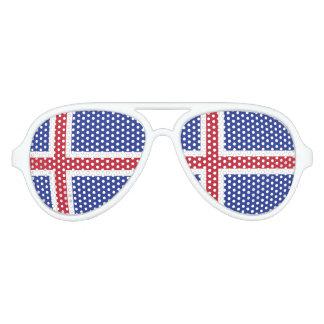 Iceland Flag Aviator Sunglasses