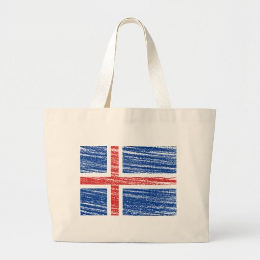 Iceland Flag Bags