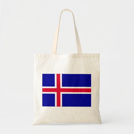 Iceland Flag Canvas Bags