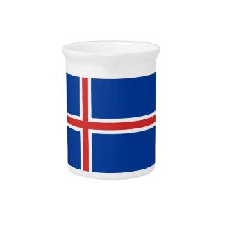 Iceland Flag Beverage Pitcher
