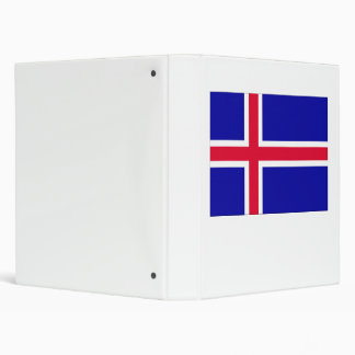 Iceland Flag Vinyl Binder