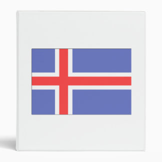 Iceland Flag 3 Ring Binder