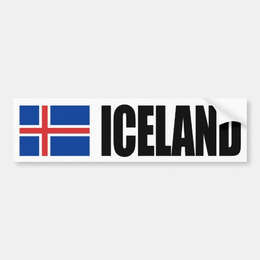 Iceland Flag Bumper Stickers