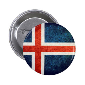 Iceland Flag Pinback Button