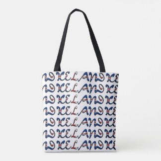 Iceland Flag Color Typography European Country Tote Bag