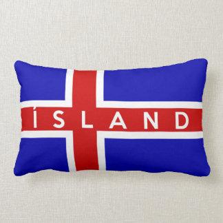 iceland flag country island text name throw pillow