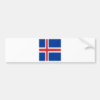 Iceland flag design on products bumper sticker