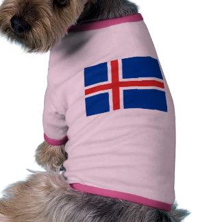 Iceland Flag Doggie T Shirt