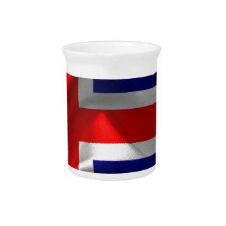 iceland-Flag Drink Pitcher