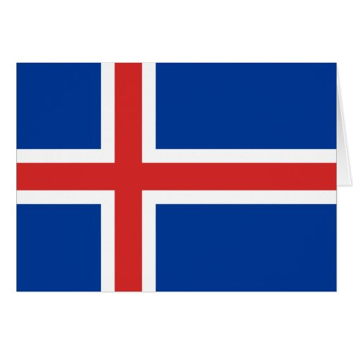 Iceland Flag Greeting Cards