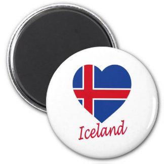 Iceland Flag Heart Fridge Magnet
