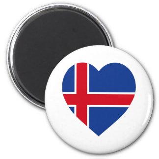 Iceland Flag Heart Refrigerator Magnet