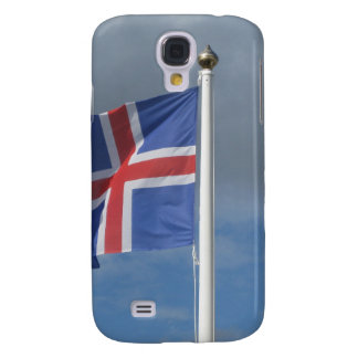 Iceland flag in the wind samsung galaxy s4 case