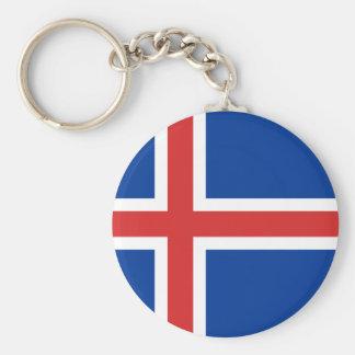 Iceland Flag Key Chain