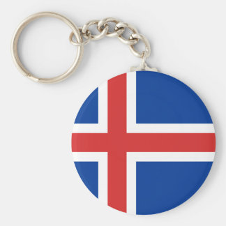 Iceland Flag Keychain