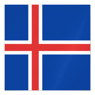 Iceland Flag Magnetic Card