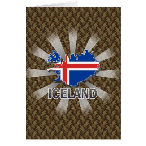 Iceland Flag Map 2.0 Greeting Card