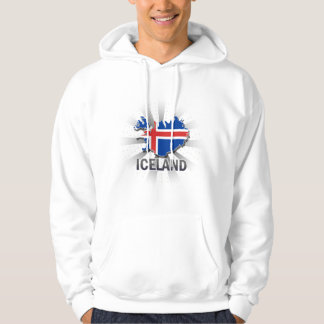 Iceland Flag Map 2.0 Hooded Pullover