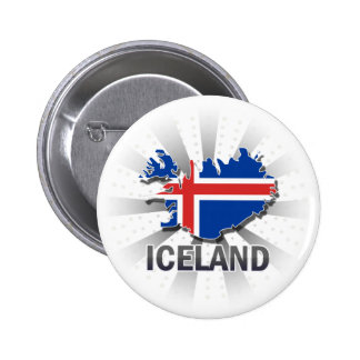Iceland Flag Map 2.0 Pinback Button