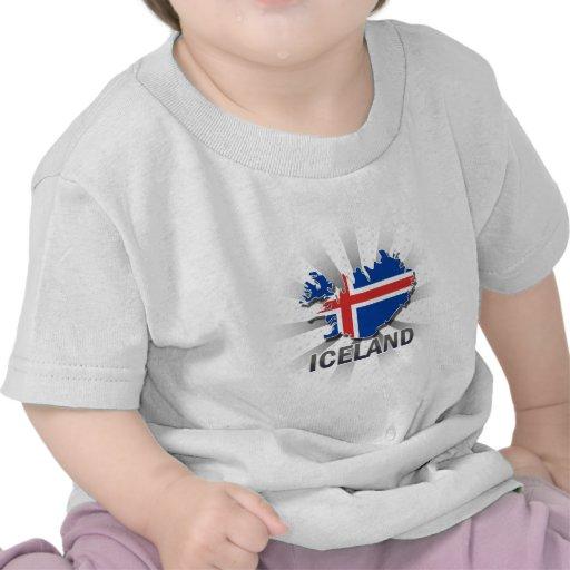 Iceland Flag Map 2.0 Shirt