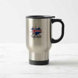 Iceland Flag Map 2.0 Travel Mug