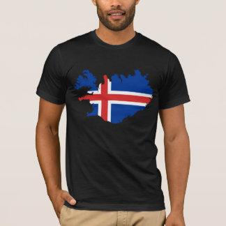Iceland flag map design T-Shirt