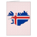 Iceland Flag Map full size Cards