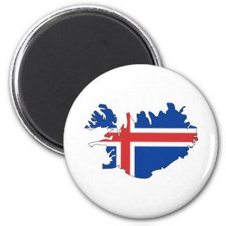Iceland Flag Map full size Magnets