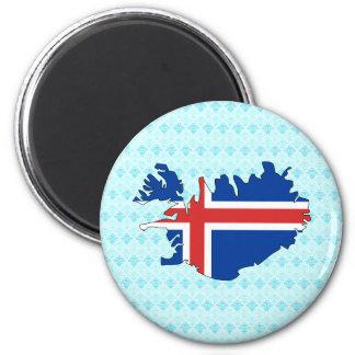 Iceland Flag Map full size Fridge Magnets