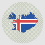 Iceland Flag Map full size Sticker