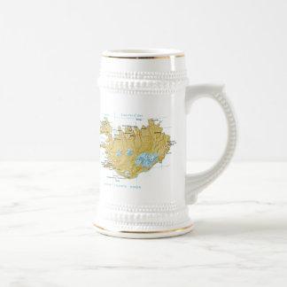 Iceland Flag ~ Map Mug