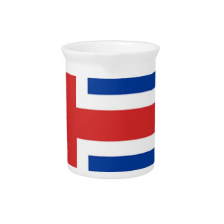 Iceland Flag Map Pitcher