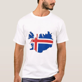 Iceland flag map T-Shirt