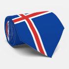 Iceland Flag Neck Tie