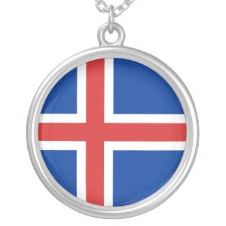 Iceland Flag Necklace