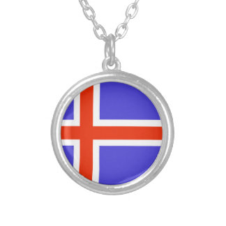 Iceland Flag Personalized Necklace