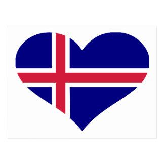 Iceland flag postcard