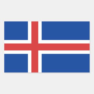 Iceland flag rectangular sticker
