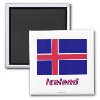 Iceland Flag with Name Magnet