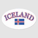 Iceland football design stickers