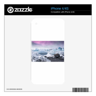 Iceland Glacier Lagoon Decal For iPhone 4
