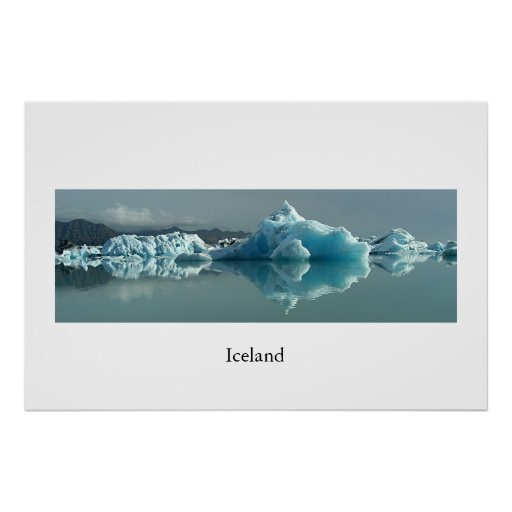 Iceland Glacier Lake Posters