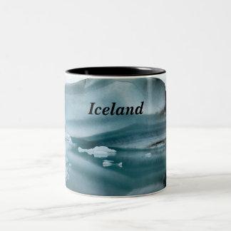 Iceland Glaciers Two-Tone Coffee Mug