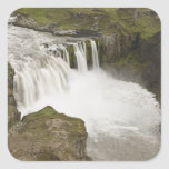 Iceland. Hafragilsfoss waterfall in Square Sticker